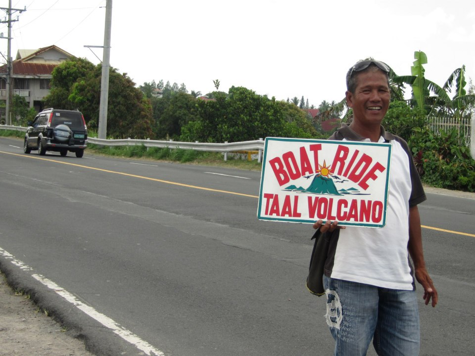 boat ride Taal Volcano