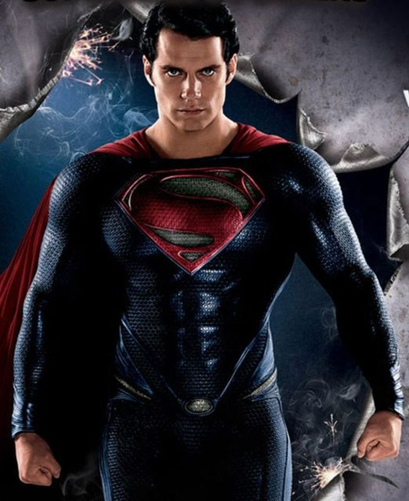 Henry Cavill as Man of Steel in Walmart Official Movie Guide