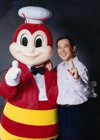 Tony Tan Caktiong with Jollibee.