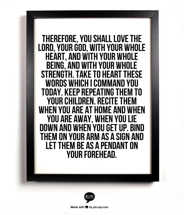 deuteronomy 6:5-8